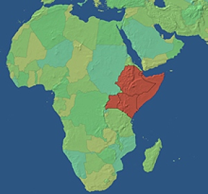 Only Map Of Africa Highlighting Ethiopia Big Map Of Ethiopia Map - Where is ethiopia